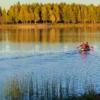 Alaska lago nei pressi del paese di North Pole