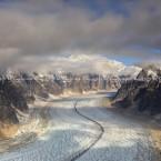 Alaska, il ghiacciaio che porta al McKynley là in fondo..
