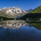 Monte Rosa reflecting in the Alpe Campo Lake