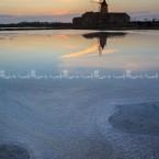 Marsala salt flat, sicily, italy, europe